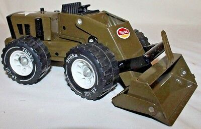 RARE BEAUTY 1960's Vintage Tonka Toy US ARMY FRONT LOADER TRACTOR ~ VERY NICE!