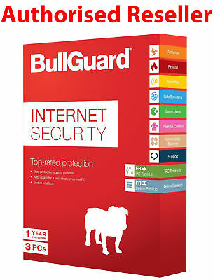 BullGuard Internet Security 2019 3 PCs 1 Year - TOP SELLER - SAME DAY DELIVERY