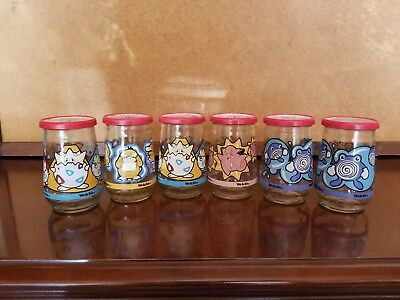Pokemon Welch's Jelly Jars Clefairy, psyduck, togepi, poliwhirl Glasses 6 Pc