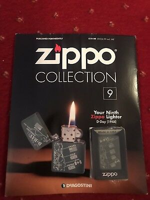 DeAgostini Collection Issue 9 Zippo Lighter D-DAY 1944  New With Magazine