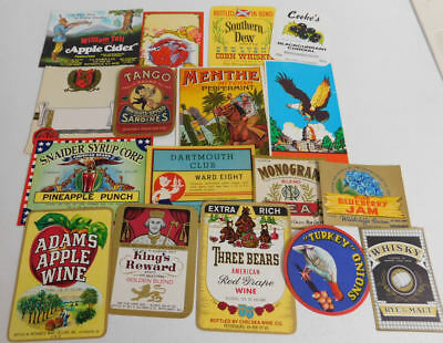 100 Different Vintage Small Advertising Labels...All Nice....