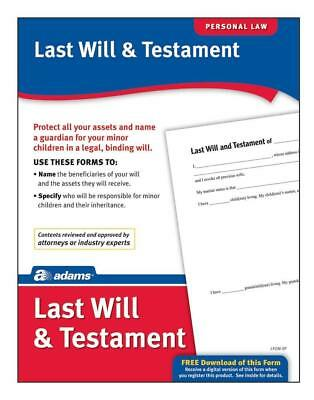 ADAMS Last Will & Testament, Forms And Instructions