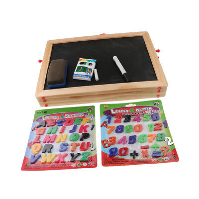 1 Set Kids Easel Wood 2in1 Blackboard Whiteboard Kit for Art Drawing Writing