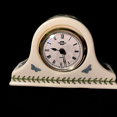 PORTMEIRION Botanic Garden - Small Mantle Clock - Rare - Butterflies, Flowers