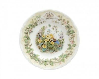 Miniature Brambly Hedge Spring Plate - Royal Doulton 1st Quality