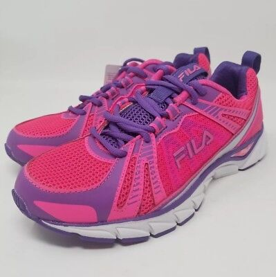 b7e3a28e4c8f0 FILA WOMENS THRESHOLD Cool Max Pink/Purple Athletic Running Shoes New Size  7.5