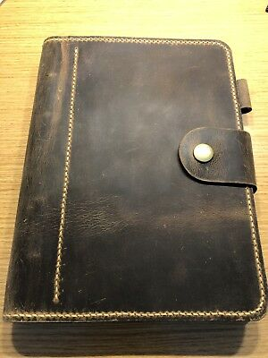 A5 Leather Notebook Planner Handmade