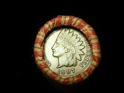 Crimped Shotgun Roll w/ UNC 1907 Indian Head & 1907 Indian Head Cent showing!