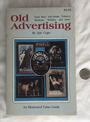 1980 Old Advertising Value Guide Price Book Beer Tobacco Whiskey Coke Cola Guns