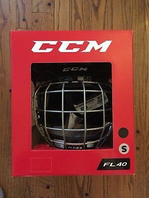 0d6fea9ec10 CCM FL40 Hockey Helmet Combo Cage Brand New In Box Size Small. Free  Shipping!