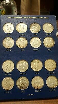 Complete 1948-63 Silver Franklin Half Dollar Date Set**** Uncirculated