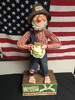 SUPER RARE Vintage 60's Mountain Dew Willy The Hillbilly Figure AUTHENTIC WOW!