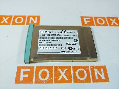 Siemens 6Es7952-0Kf00-0Aa0 Simatic S7 Memory Card 64Kb For S7-400 - Used Tested