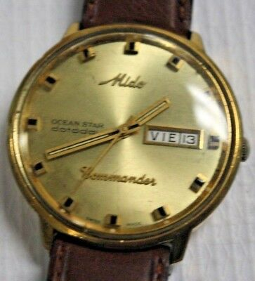 MIDO OCEAN STAR COMMANDER AUTOMATIC watch special GOLDEN Vintage DAY DATE rare