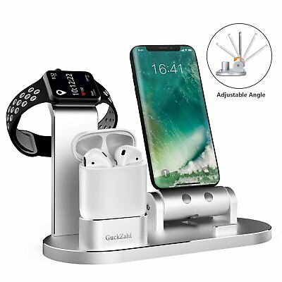 GuckZahl Apple Watch Changing Stand Aluminum 4 in 1 iWatch Charging Dock