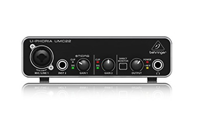 U-PHORIA UMC22 2x2 USB Home Studio Audio Recording Interface +Software