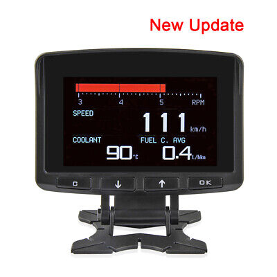 Multi Functional Smart Car OBD HUD Digital Meter Speedometer Fault Code Display