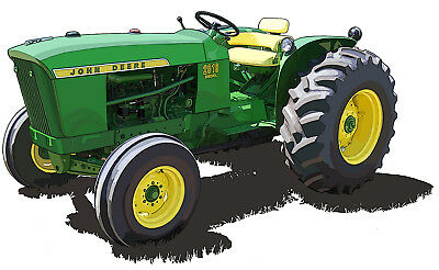 John Deere Model 2010 RU canvas art print by Richard Browne