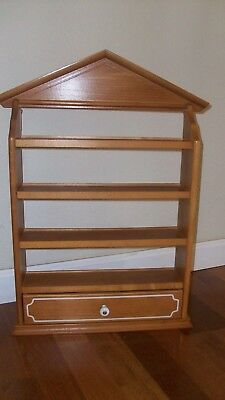 The Lenox Spice Village Collection Wood Display Rack - 1989 - Excellent!