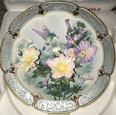 "2nd Issue Bradford Exchange Lena Liu Morning Jewels ""Amethyst Glory"" Plate"