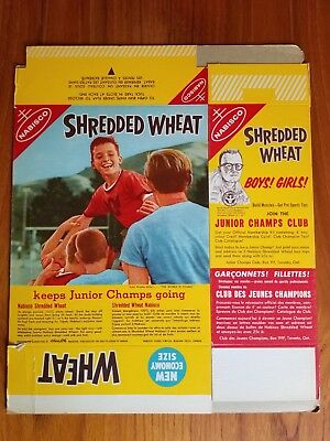 1950's Nabisco Shredded Wheat Cereal Box FLAT, not used Junior Champs Club