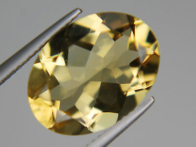 Natrual Citrine Oval VVS 16x12mm 8.76ct Brazil Best Big Loose Yellow Gemstone