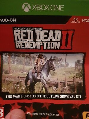 Red Dead Redemption 2 - XBOX ONE - War Horse & Outlaw Survival Kit DLC Code Only
