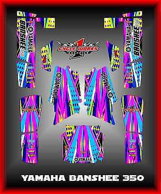 Yamaha BANSHEE 350 SEMI CUSTOM GRAPHICS KIT DOTTED