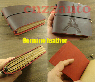 Handmade natural genuine Leather cover Vintage Journal diary notebook Z006