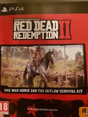 Red Dead Redemption 2 - PS4 - War Horse & Outlaw Survival Kit DLC Code Only
