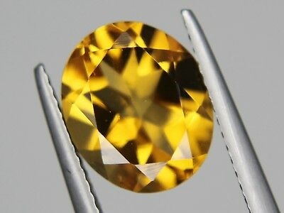 Natural Brazil Citrine VVS 11x9mm 3.4ct Golden Yellow Oval Loose Big Gemstone