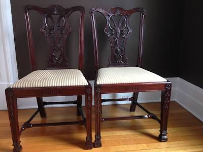Pair of Mahogany Chinese Chippendale Side Chairs