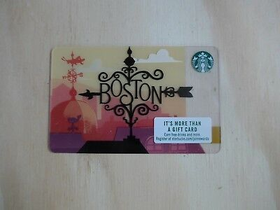 NEW Starbucks City Gift Card - Boston 2018 - Wrought Iron - Pack of 10