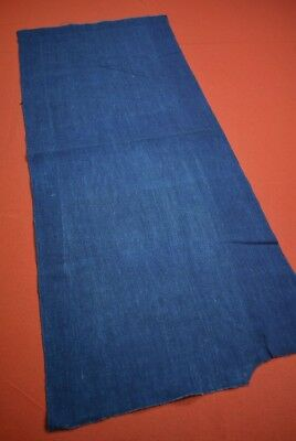 PX20/55 Vintage Japanese Fabric Cotton Antique Boro Patch Indigo Blue 34.3""