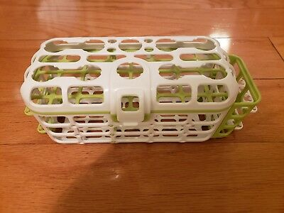 Munchkin Baby Deluxe Dishwasher Basket BPA Free Nipples Straw Cleaning Rack