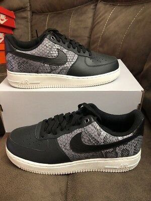 meet edaa4 9ebfd Nike Air Force 1 '07 LV8 New 823511-003 Anthracite Black Snakeskin Mens Size