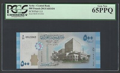 Syria 500 Pounds 2013/AH1434 P115 Uncirculated Grade 65