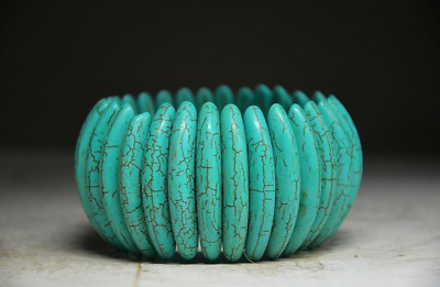 Beautiful Chinese Ancient Aristocratic Wear Turquoise Bracelet.