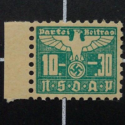 German NSDAP stamp-Nazi Party members dues-MNH-Germany revenue/swastika/eagle