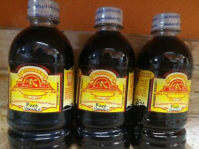 Lot 3 Pure Natural Mexican Vanilla on sale extract Vainilla premium quality!