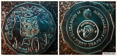 2016 Australian 50 Cent Coin - Australia Fifty 50 Years Of Decimal Currency Unc