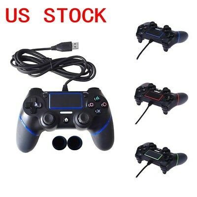 For PS 4 USB Wired Controller Gamepad Joypad Multiple Vibrations Controllers USA