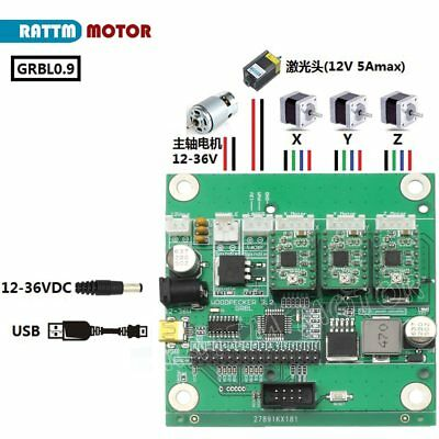 GRBL 1.1J USB port 3 axis CNC control board engraving machine support laser e…