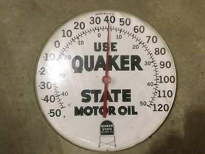 Vintage Quaker State Motor Oil Thermometer
