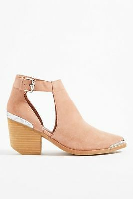 18da5412ca0dd NIB Jeffrey Campbell Woodruff Blush Suede Cut-Out Ankle Booties-Sizes 8.5  or 9.5