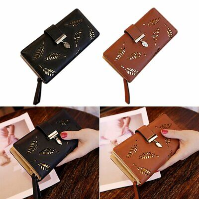 Fashion Women Bifold Wallet Leather Clutch Card Holder Purse Lady Long Handbag C