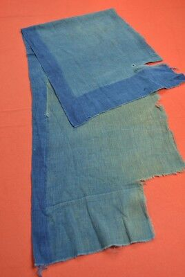 PX63/55 Vintage Japanese Fabric Cotton Antique Boro Patch Indigo Blue 46.9""