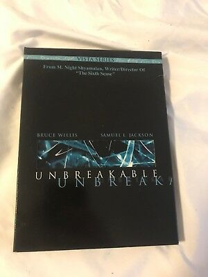 Unbreakable DVD, 2001, 2 Disc Set, Vista Series) Bruce Willis, Samuel L. Jackson