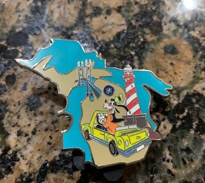 Disney American Adventure State Pin Map Mystery MI Michigan Puzzle 2018 LR State