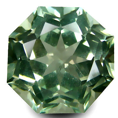 2.10Cts Natural Gorgeous Green Amethyst (Prasiolite) 8mm Round Custom Cut Gem!